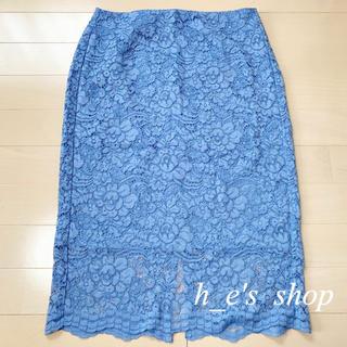 ジーユー(GU)の総レースタイトスカート*GU/ジーユー(ひざ丈スカート)