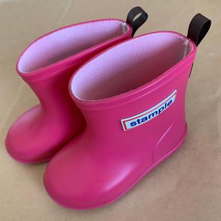 コドモビームス(こども ビームス)のSTAMPLE  長靴 レインブーツ ピンク(長靴/レインシューズ)