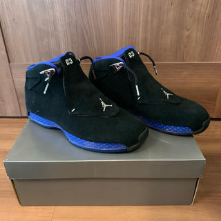 ナイキ(NIKE)の【27.0cm】Jordan18 Retro Black Sport Royal(スニーカー)