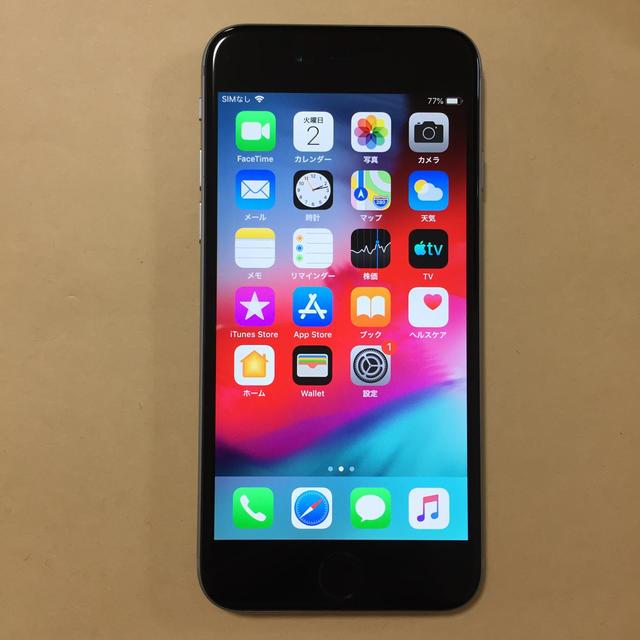 iPhone(アイフォーン)の美品 iPhone6 16gb AU ロックオン バッテリー良好 スマホ/家電/カメラのスマートフォン/携帯電話(スマートフォン本体)の商品写真
