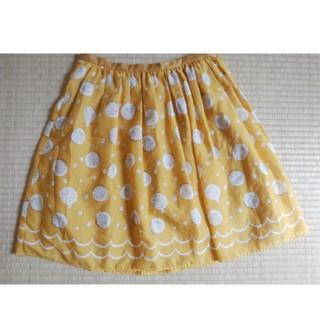 ドットアンドストライプスチャイルドウーマン(Dot&Stripes CHILDWOMAN)の週末限定値下げ。貝殻柄キャザースカート(ひざ丈スカート)