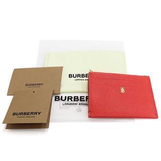 バーバリー(BURBERRY)のBURBERRY ジップ カードケース レッド モノグラムモチーフ A2402(名刺入れ/定期入れ)