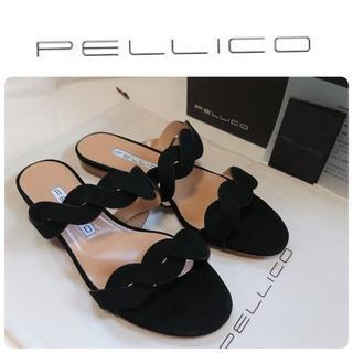 PELLICO - 新品 ペリーコ ダブルツイスト フラット サンダル 37/24 定価52800円
