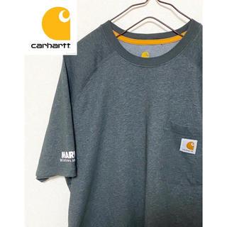 カーハート(carhartt)の【激レア!】 carhartt  Tシャツ 企業名 バックロゴ ワンポイント(Tシャツ/カットソー(半袖/袖なし))