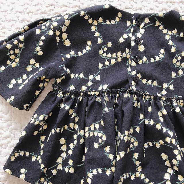petit main(プティマイン)の【petit main】花柄トップス チュニック ブラウス 80 キッズ/ベビー/マタニティのベビー服(~85cm)(シャツ/カットソー)の商品写真