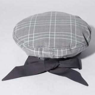 アクシーズファム(axes femme)のアクシーズ ファム 新品  後ろリボンベレー帽(ハンチング/ベレー帽)