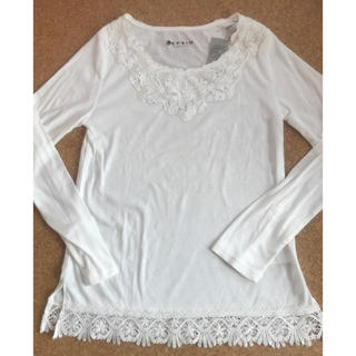 レプシィム(LEPSIM)のLEPSIM バテンレース 長袖Tシャツ L(Tシャツ(長袖/七分))