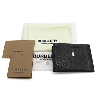 バーバリー(BURBERRY)のBURBERRY ジップ カードケース モノグラムモチーフ ブラック A2403(名刺入れ/定期入れ)
