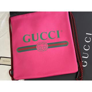 グッチ(Gucci)のGUCCI ナップザックバックpink(バッグパック/リュック)