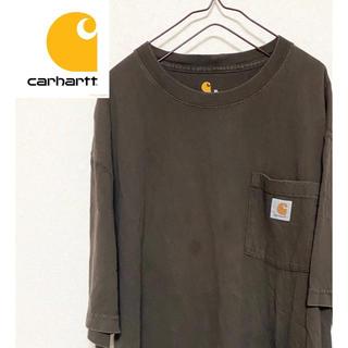 カーハート(carhartt)の【激レア】カーハートワンポイントロゴ XL ビッグサイズ半袖Tシャツ(Tシャツ/カットソー(半袖/袖なし))