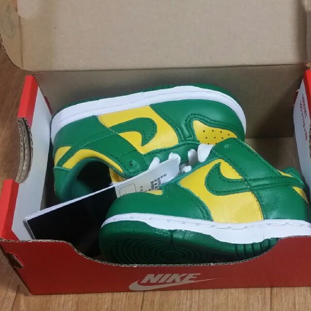 NIKE(ナイキ)の9cm  Nike Dunk Low SP Brazil キッズ/ベビー/マタニティのベビー靴/シューズ(~14cm)(スニーカー)の商品写真