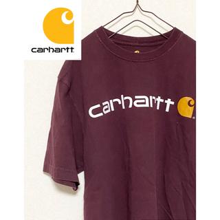 カーハート(carhartt)の【激レア!】カーハート 半袖 Tシャツ デカロゴ ビッグロゴ ワインレッド(Tシャツ/カットソー(半袖/袖なし))