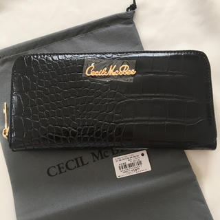 CECIL McBEE - 新品 セシルマクビー ラウンドファスナー 長財布 ウォレット ブラック 黒