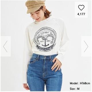 ジーユー(GU)のグラフィックヘビーウェイトT(長袖)(Tシャツ(長袖/七分))