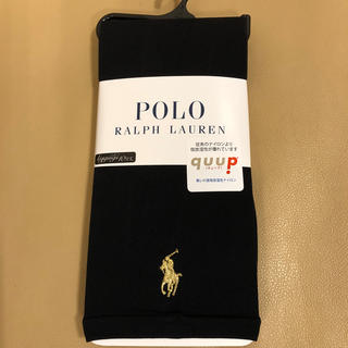 ポロラルフローレン(POLO RALPH LAUREN)の新品 レディース ポロラルフローレン 10分丈黒レギンス M〜L寸 日本製(レギンス/スパッツ)