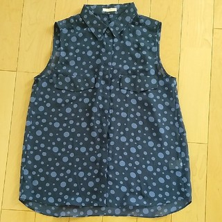 ジーユー(GU)のジーユー ノースリーブ シャツ(シャツ/ブラウス(半袖/袖なし))