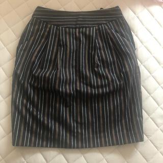 ジーナシス(JEANASIS)のJEANASIS ストライプスカート(ひざ丈スカート)