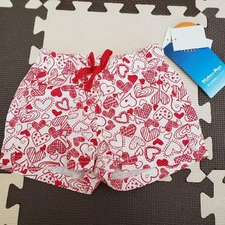 シマムラ(しまむら)のしまむら ショートパンツ 女の子 ハート 白 80 タグ付 新品(パンツ)