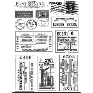 ★海外輸入クリアスタンプ★Vintage ticket(はんこ)