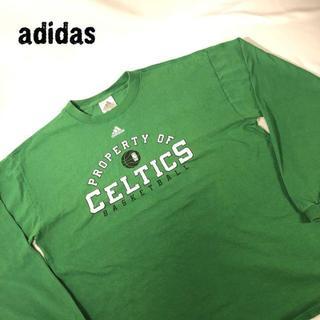アディダス(adidas)のアディダス adidas 人気のグリーン プリント ロンT ビッグサイズ L(Tシャツ/カットソー(七分/長袖))