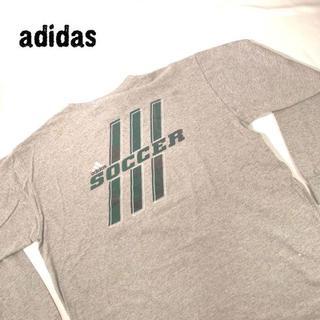 アディダス(adidas)のアディダス adidas 背面ビッグプリント ロンT グレー ビッグサイズ L(Tシャツ/カットソー(七分/長袖))