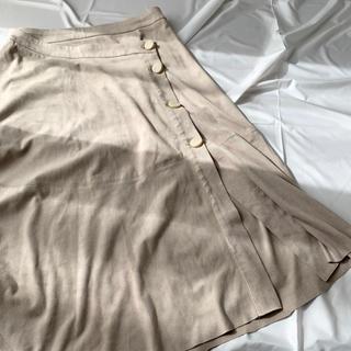 ザラ(ZARA)の【ZARA BASIC】ロングスカート 膝丈スカート ベージュ(ひざ丈スカート)
