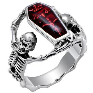 棺桶スカル 骸骨 棺桶 髑髏 スケルトン リング 指輪 21号(リング(指輪))
