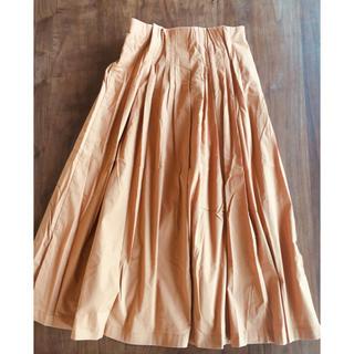 アウィーエフ(AuieF)のAuieF オレンジ ロングスカート(ロングスカート)
