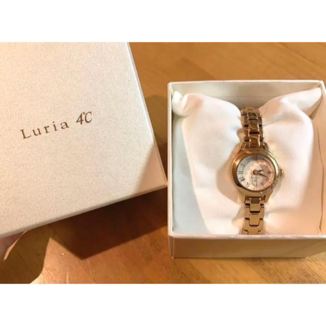 4℃(ヨンドシー)のLuria 4℃ ♡ ピンクゴールド腕時計 レディースのファッション小物(腕時計)の商品写真