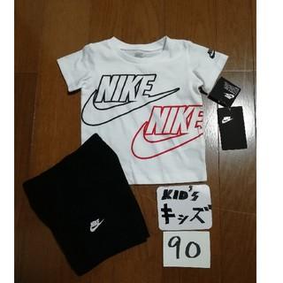 ナイキ(NIKE)の20春夏モデル‼️NIKEキッズ90(24M)セットアップ白黒未使用タグ付(Tシャツ/カットソー)
