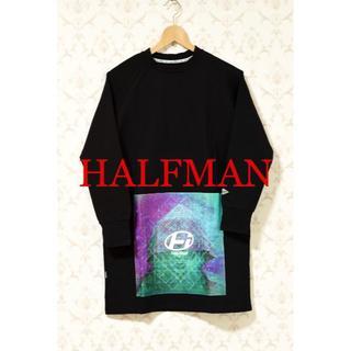 ハーフマン(HALFMAN)の【新品】 HALFMAN USA ハーフマン カットソー ブラック Sサイズ(Tシャツ/カットソー(七分/長袖))