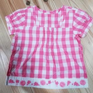 オシュコシュ(OshKosh)の[オシュコシュ]ピンクチェックシャツ 100㎝(Tシャツ/カットソー)
