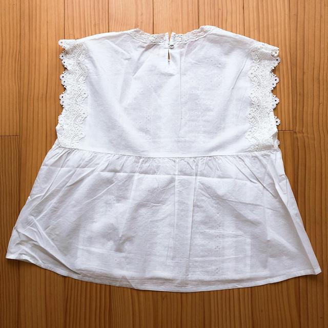 SM2(サマンサモスモス)のサマンサモスモス samansaMos2 レースノースリブラウス オフホワイト レディースのトップス(シャツ/ブラウス(半袖/袖なし))の商品写真