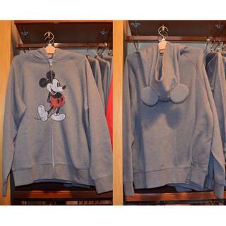 ディズニー(Disney)のディズニー 耳付きパーカー(グレー)(パーカー)