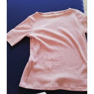 ジーユー(GU)の五分袖リブトップス(カットソー(半袖/袖なし))