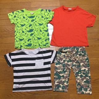 GU - 半袖Tシャツ&ハーフパンツ 110