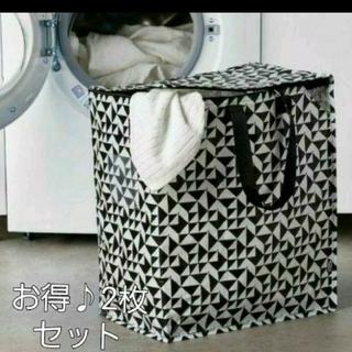イケア(IKEA)のイケア♪新商品☆クナラ 収納 2枚セット♪IKEA クナラ エコバッグ 収納 袋(押し入れ収納/ハンガー)