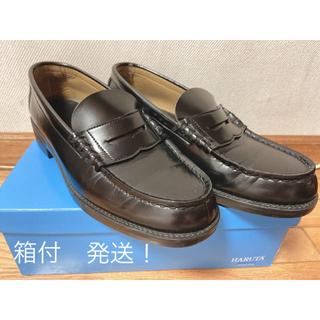 ハルタ(HARUTA)のハルタ ローファー ブラック メンズ(25.5   3E)(ローファー/革靴)