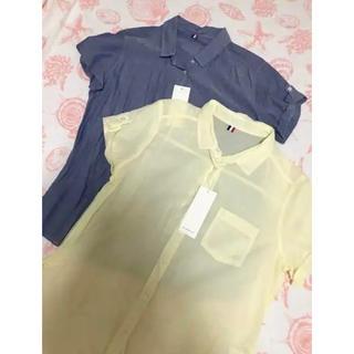 ジーユー(GU)のGU 新品タグ付き コットンシャツ 2枚セット(シャツ/ブラウス(半袖/袖なし))