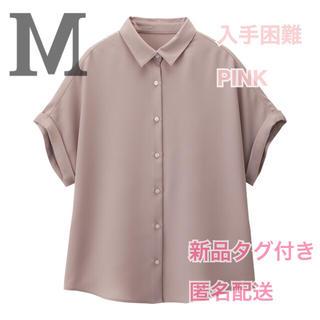 ジーユー(GU)のえそら様専用 エアリーシャツ PINK (シャツ/ブラウス(半袖/袖なし))