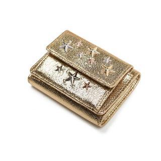 ジミーチュウ(JIMMY CHOO)のJIMMY CHOO ジミーチュウ スタッズ 三つ折り財布(財布)
