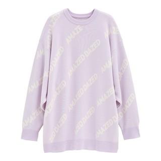 ジーユー(GU)のGUロゴキングサイズセーター(長袖)Y+E ライトパープル フリーサイズ(ニット/セーター)