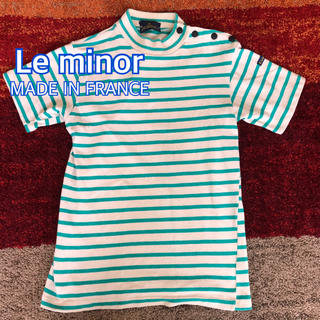 ルミノア(Le Minor)のLe minor ルミノア  半袖カットソー フランス製(カットソー(半袖/袖なし))