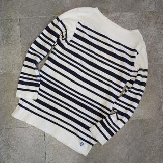 オーシバル(ORCIVAL)の【ORCIVAL】オーシバル/カットソー/ネイビー×ボーダー/サイズ3(Tシャツ/カットソー(七分/長袖))