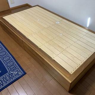 ムジルシリョウヒン(MUJI (無印良品))の収納ベッド・シングル・ウォールナット材(ダブルベッド)