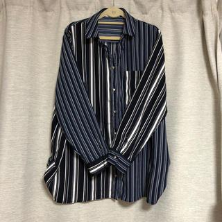 ストライプシャツ 大きいサイズ  4L(シャツ/ブラウス(長袖/七分))