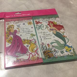 ディズニー(Disney)のノート ラプンツェル アリエル ディズニーランド ディズニーシー (ノート/メモ帳/ふせん)