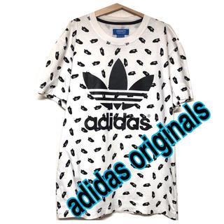 アディダス(adidas)のアディダス オリジナルス デカロゴ tシャツ スニーカー 総柄 L トレフォイル(Tシャツ/カットソー(半袖/袖なし))