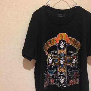 ZARA - 【流行りのバンドT!】ZARA MAN 前後ビッグプリント Tシャツ Mサイズ