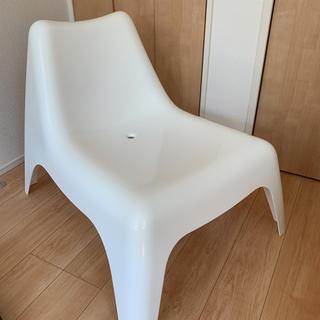 イケア(IKEA)のIKEA  イージーチェア ホワイト 屋内屋外(スツール)